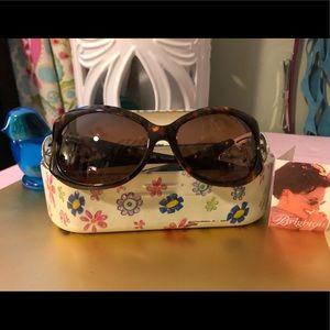 Brighton Glendora tortuous shell sunglasses w case